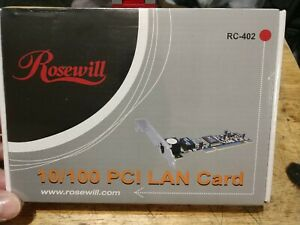 Rosewill RC-402 10/100 PCI LAN Card NEW / Sealed