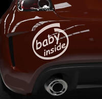 Sticker Baby Inside Aufkleber Aufkleberfolie Auto Heckscheibenaufkleber Text