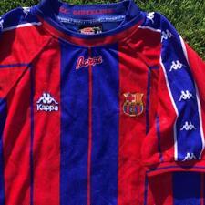 Rare VTG 90s Red/Blue Kappa Barcelona Spain Club Soccer Football Jersey XL