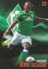 Theodor Gebre SELASSIE + Werder Bremen + Saison 2013/2014 + Orig. Autogrammkarte