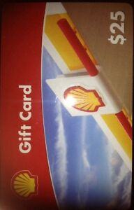 SHELL GASOLINE $25.00 GIFT CARD