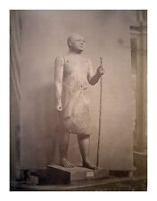 Photographie Albuminé/ P. Sébah / Statue musée Caire / Cairo /