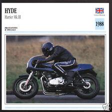 1988 Norman Hyde Harrier Mk. III (3) Triumph Trident Motor Motorcycle Photo Card
