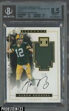 2016 Panini Impeccable Elegance Gold Aaron Rodgers AUTO Patch 5/5 BGS 8.5 w/ 10