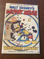 Vintage Walt Disney Mickey Mouse Magnet Wayward Canary Minnie Movie Poster