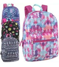 Lot of 24 Wholesale 17 Inch Printed Backpacks for Girls in 4 Different Styles