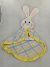 Fisher Price Bunny Rabbit Lovey Security Blanket Puppet 1353 Stuffed Animal Toy