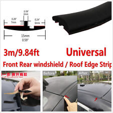 DIY 10ft/3M Black T-Type Rubber Seal Car Windshield Edge Protector Sealing Strip