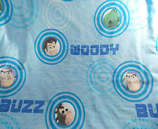 Disney's Pixar Toy Story Flat Twin Sheet Blue Woody Buzz Fabric Crafts
