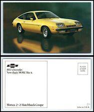 Vintage Postcard - 1977 Chevrolet Monza 2+2 Hatchback Coupe Car / Automobile M8