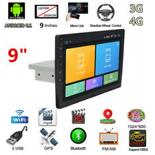 "9"" Android 8.1 Single 1Din Car Stereo Radio Quad Core GPS Wifi OBD2 DVR 1+16GB"