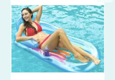 Intex Swimming Pool Inflatable Lounge Floating Chair Headrest Adult Mat Float Bl