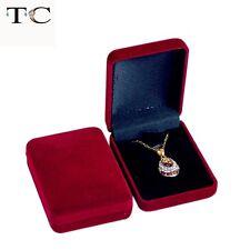 2019 Dark Red Velvet Plastic Earring Pendant Holder Jewelry Display Necklace Box