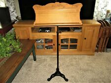 Carved Oak Cast Iron Adjust Sheet Music Holder Victorian Book Stand Claw Ft Base