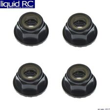Tekno RC TKR1215 M5 Locknuts Aluminum/Flanged/Serrated Black (4