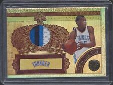 KEVIN DURANT 2010-11 GOLD STANDARD GOLD CROWNS 4 COLOR GAME USED PATCH #D 21/25