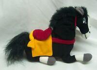 "Vintage Walt Disney Store Mulan BLACK KHAN HORSE 8""  STUFFED ANIMAL Toy NEW"