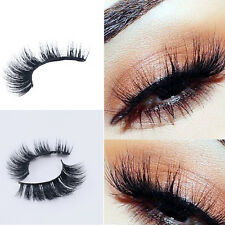 100% 3D Mink Natural Thick False Fake Eyelashes Eye Lashes Makeup Extension