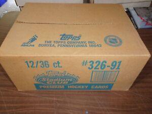 1991 Topps Stadium Club Factory Sealed 12 Box Hockey Hobby Case 12/36 Rare!