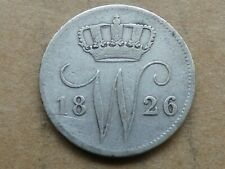 25 cent, Willem I, 1826U, zilver, zeer goed