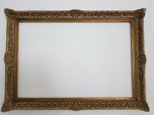 (L) antiker Bilderrahmen Impressionisten-Rahmen Weiß, Grau FM 45,5 x 67,1 cm