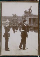 Allemagne, Militaires en visite, ca.1900, Vintage citrate print Vintage citrate