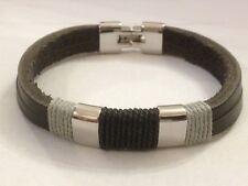 FRED BENNETT Black Leather Bracelet rrp £66