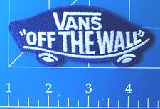 VANS OFF THE WALL BLUE PATCH, DRESS UP YO RAGGEDY ASS!