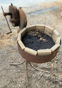 Champion Blacksmith Forge Model 78 / Coal / Furnace with Hand Blower & Stand