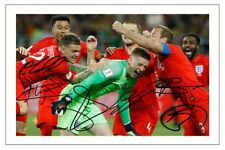 ENGLAND SHOOTOUT V COLOMBIA CELEBRATION WORLD CUP 2018 SIGNED PHOTO PRINT