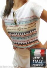 Unbranded Short Sleeve Geometric Regular Size Tops for Women