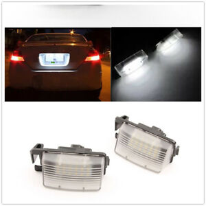 2X LED License Plate Light Lamp For Nissan 350Z 370Z GTR Infiniti G35 G37 White
