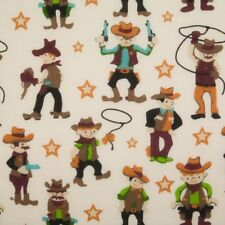 Polycotton Fabric Cowboys Wild West Sheriff