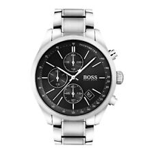 Hugo Boss Mens Grand Prix Silver Black Watch HB1513477