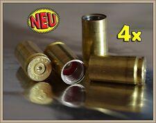 4x KFZ Ventilkappen -VINTAGE LOOK- MESSING 9mm Pistole Patronen Hülsen Munition