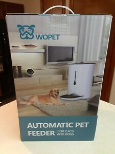 Nee sealed WOPET Automatic Pet Feeder Food Dispenser for Cats and Dogs- 7L White
