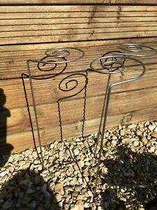 6 X Metal Garden Plant Supports Set of 6 -36 inch Spiral Round Tall Plant Stakes