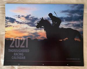 2021 Thoroughbred Racing Calendar, Tiz the Law, Monomoy Girl, Swiss Skydiver
