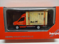 Herpa 093286 MB Mercedes Benz Sprinter Koffer Spedition Wirtz 1:87 Neu
