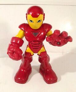 "Hasbro Marvel Super Hero Squad Talking Light Up 10"" Iron Man Action Figure"