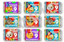 Emoji Birthday Mini Candy Bar Wrappers - Party Favors - Set of 84
