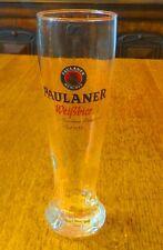LARGE PAULANER GERMAN WHEAT BEER SWIRL STEM GLASS 0.5L BY RASTAL