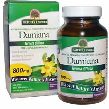 NATURE'S ANSWER DAMIANA LEAF VEGAN AYUVERDIC HERB DAILY BODY CARE HEALTHY