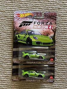 Hot Wheels 2021 Latest Entertainment Forza Horizon 4 Porsche 911 GT3 RS x2