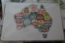beers off australia  metal sign MAN CAVE brand new