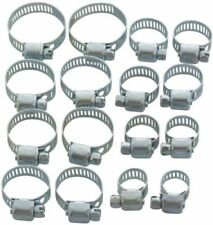 Jubilee Clips Hose Clamps Pipe Clamp 16pc Set 13mm - 32mm Garage Plumbing