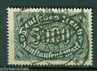 Deutsches Reich 256b , o , Infla geprüft