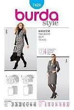 Burda Sewing Pattern 7420 Skirt Jacket Size 8-20 Euro 34-46
