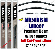 Wipers 3pk Premium Front + Rear - fit 2004-07 Mitsubishi Lancer  19240/180/30170