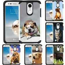 For Lg Aristo 3/Aristo 2 Plus/Phoenix 4/Tribute Empire Case Dog Cat Puppy Cover